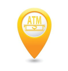 Atm map pointer yellow vector