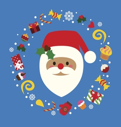 Christmas holiday print with santa vector