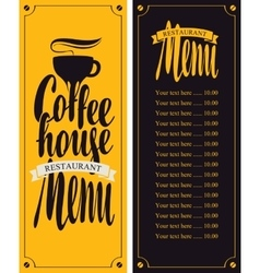 Coffe house menu vector