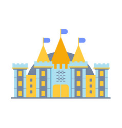 colorful fairy tale castle vector image