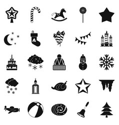 cult icons set simple style vector image