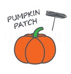 Embelema or a poster with pumpkin vector image