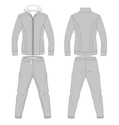 Fashion athletic apparel flat drawings vector