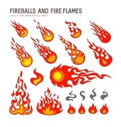 Fireballs and flame vector