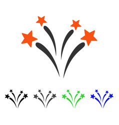 Fireworks flat icon vector