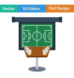 Flat Design Single football fans vector image