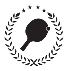 isolated ping pong emblem vector image