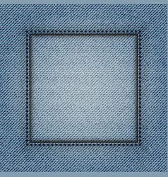 jeans square frame vector image vector image