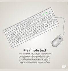 keyboard and mouse vector image