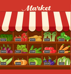 local vegetable stall vector image