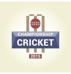 logo template championship cricket vector image