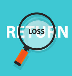 loss or return in investment concept business vector image vector image
