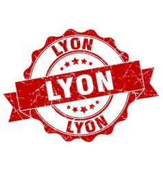 Lyon round ribbon seal vector