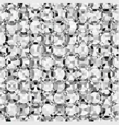 mosaic grayscale circles vector image vector image