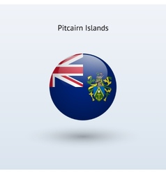 Pitcairn Islands round flag vector image vector image