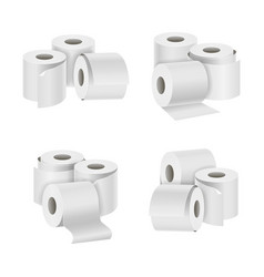 realistic template blank white toilet paper vector image vector image