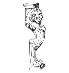 Roman table support trapezophoron display of vector