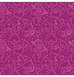 Seamless abstract hearts vector image