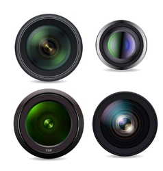 Set of Photo Lens isolated on white background vector image