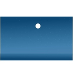 Silhouette of sea flat vector image vector image