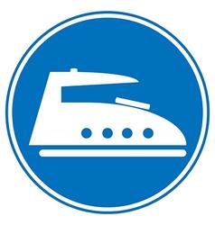 Steam iron button vector