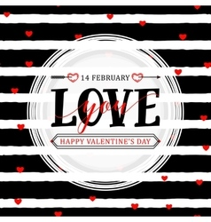 stylish happy valentines vector image