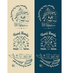 Trendy Retro Vintage Insignias - Badges set vector image vector image