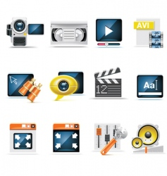 video production set vector image