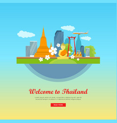 welcome to thailand travel poster vector image vector image