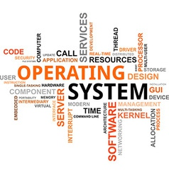 word cloud operating system vector image vector image