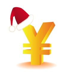 yen currency xmas vector image