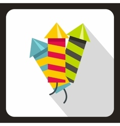 Party poppers icon flat style vector