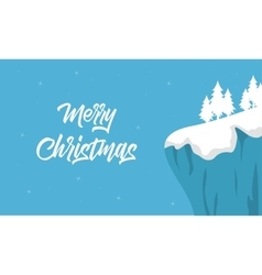 Christmas winter landscape of silhouette vector