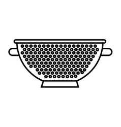 Fry rack isolated icon vector