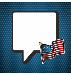 Usa national speech bubble in blank and flag vector
