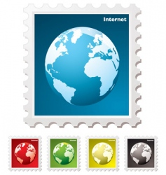 internet world stamp vector image