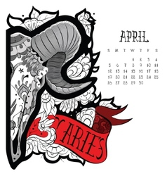Aries tattoo vector