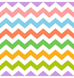 Colorful seamless zig zag pattern vector