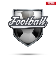 Premium symbol of football label vector