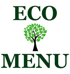 Eco menu vector