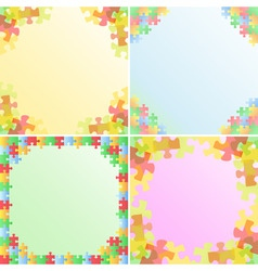 puzzle frames vector image