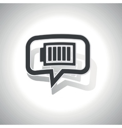 Curved charged battery message icon vector
