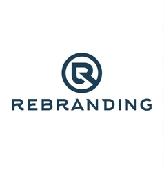Letter r logo flat style of vector