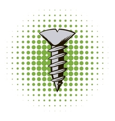 Screw comics icon vector