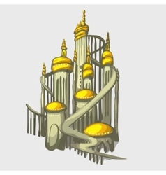 Isolated castle with golden domes vector