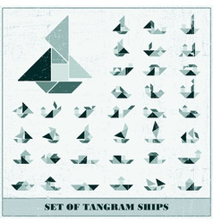 Set of ships vector
