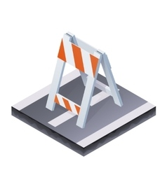 Isometric traffic barrier vector image