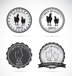 Set of chicken labels vector image