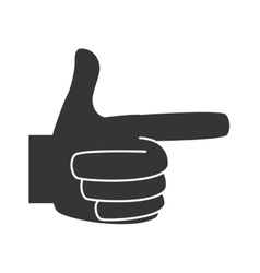 Hand pointing finger vector