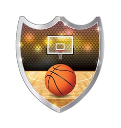 Basketball Badge Emblem vector image vector image